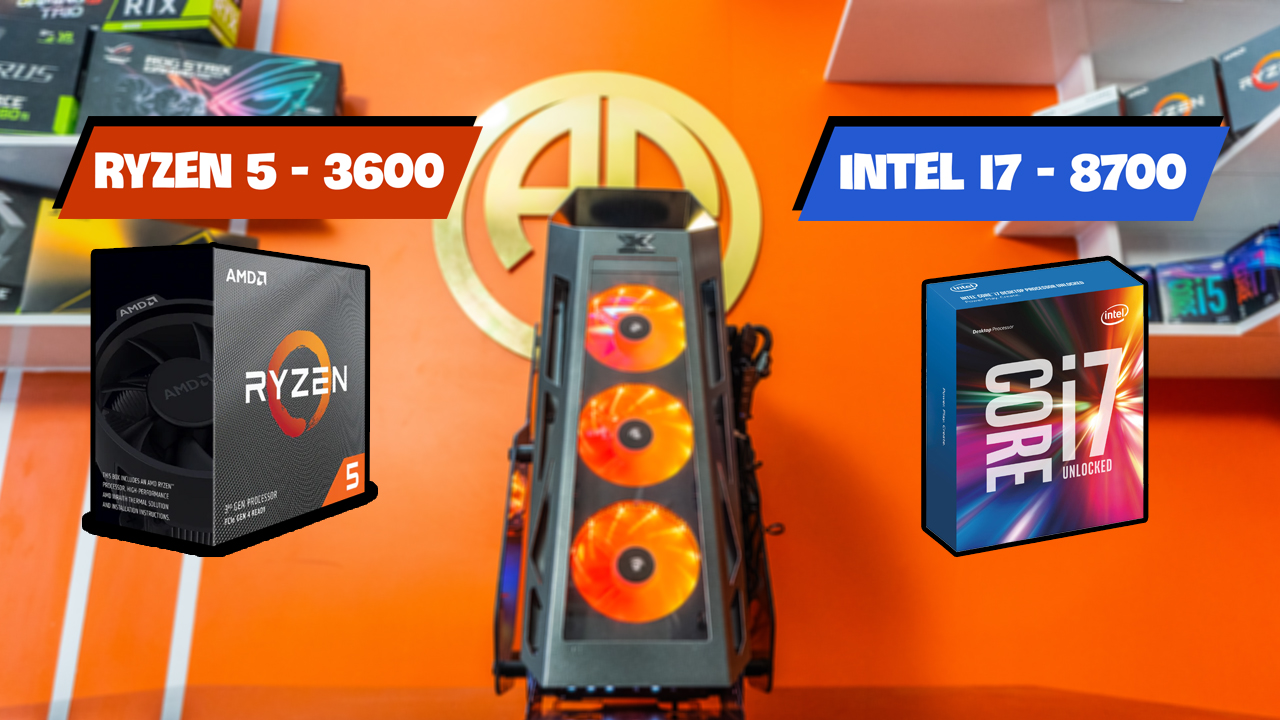 So Sánh Ryzen VS i7 8700