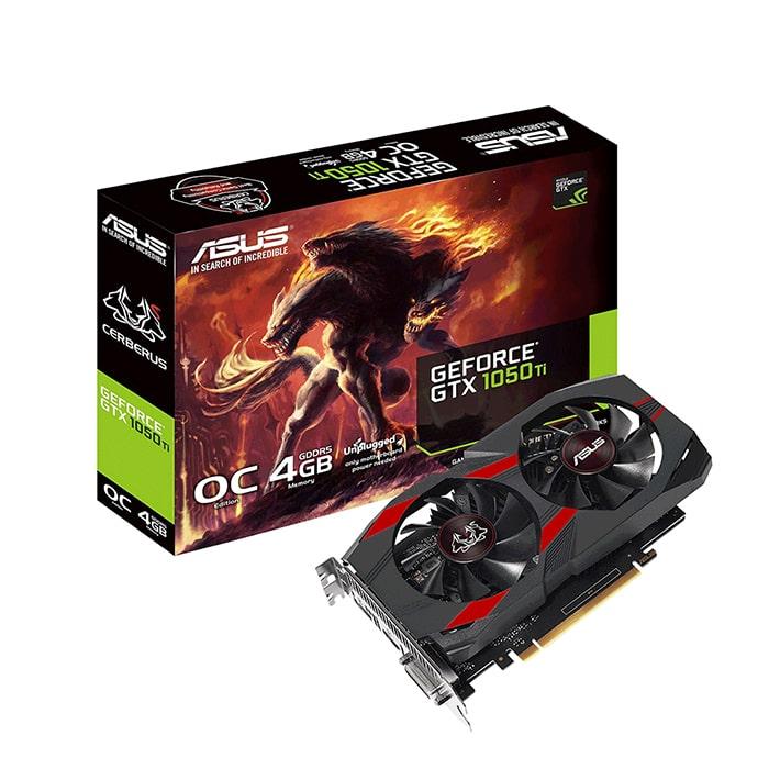 Card màn hình | VGA Asus GeForce GTX 1050Ti 4GB GDDR5 Cerberus OC (CERBERUS-GTX1050TI-O4G)