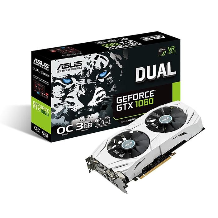 Card màn hình | VGA Asus GeForce GTX 1060 3GB GDDR5 DUAL (DUAL-GTX1060-O3G)