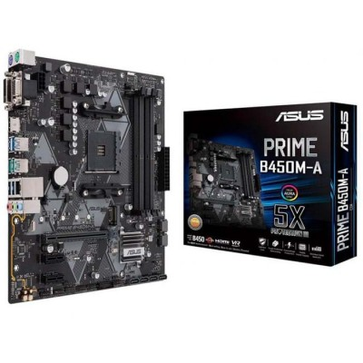 MainBoard B450M-A ASUS PRIME (AMD B450, Socket AM4, m-ATX, 4 khe RAM DDR4) (Yes)