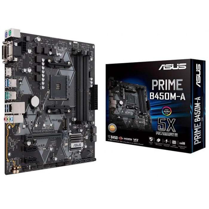 MainBoard B450M-A ASUS PRIME (AMD B450, Socket AM4, m-ATX, 4 khe RAM DDR4) (Cái)