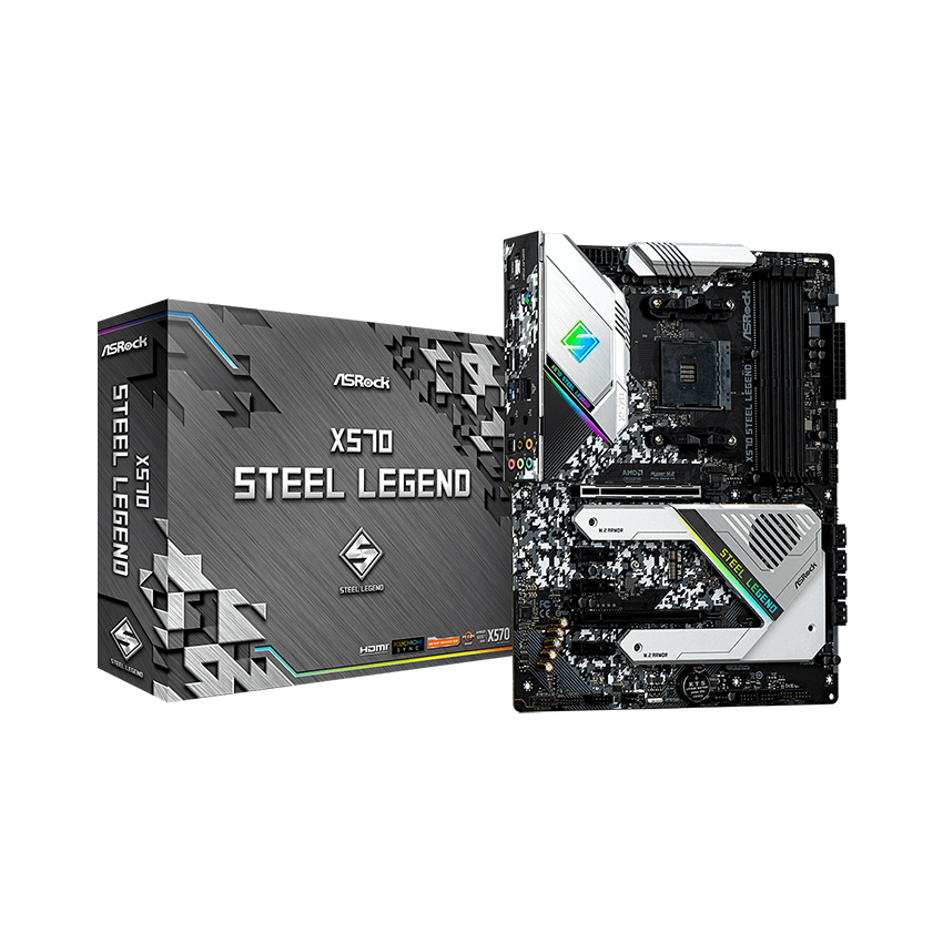 MainBoard X570 ASROCK Steel Legend (AMD X570, Socket AM4, ATX, 4 khe RAM DDR4) (Yes)
