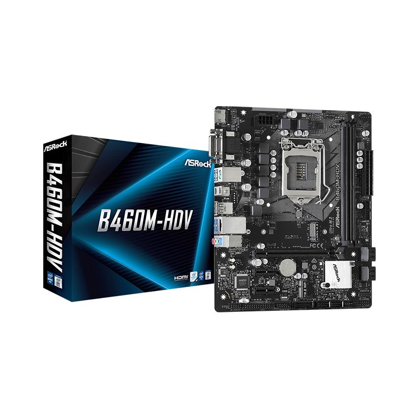 MainBoard B460M-HDV ASROCK (Intel B460, Socket 1200, m-ATX, 2 khe Ram DDR4) (Cái)